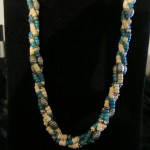 Vintage-BOHO style Necklace Wood Beads
